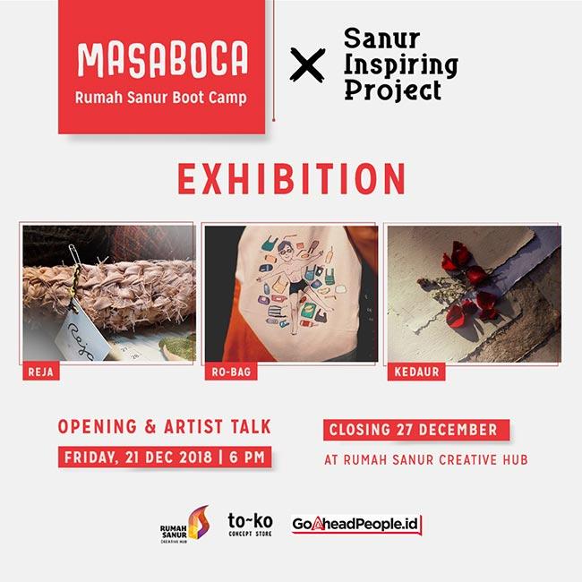 MASABOCA (Rumah Sanur Boot Camp) exhibition opening