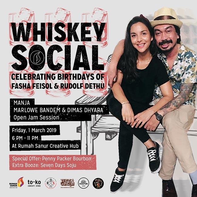WHISKEY SOCIAL - Celebrating Birthdays of Fasha and Dethu