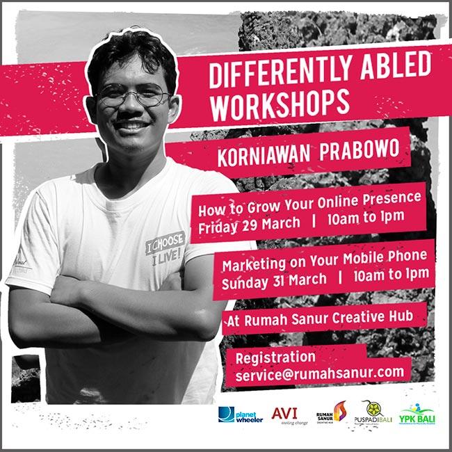 Differently Abled Workshop Korniawan Prabowo