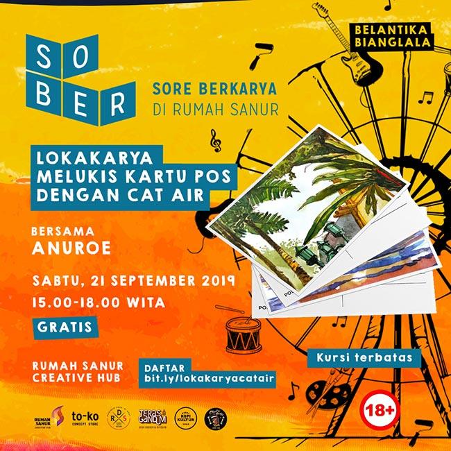 SOBER Lokakarya Melukis Kartu Pos