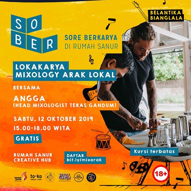 SOBER Lokakarya Mixology Arak Lokal