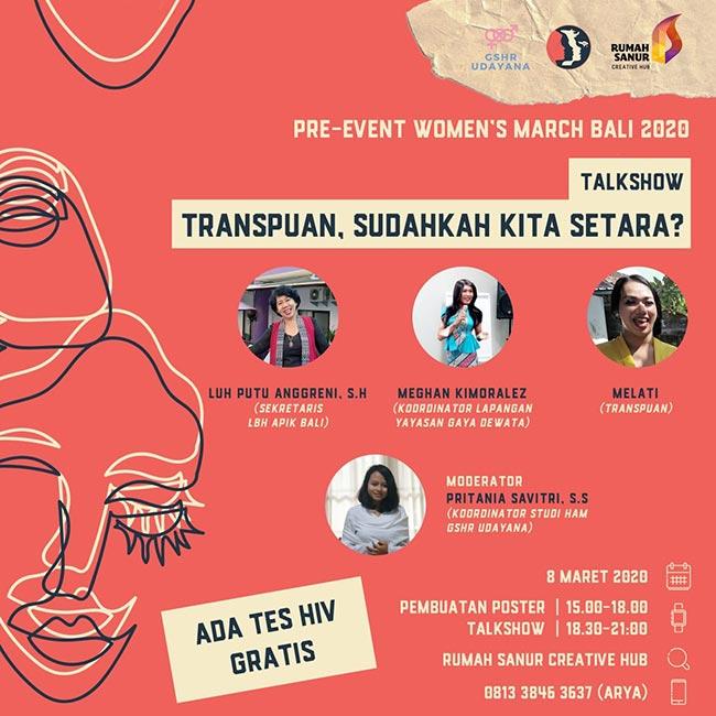 WOMEN'S MARCH BALI 2020: PRE-EVENT